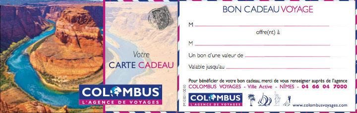 Colombus voyages - Catalogue cadeau carte u ...